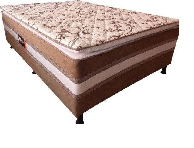 Promoção - Cama ColchãoBox Acoplado Casal com Pillow - Apenas R$599,00