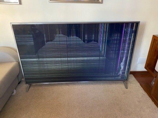 TV LG 75 com display quebrado  - Foto 2