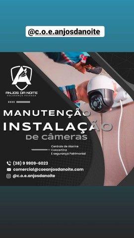 Instalação e manutenção de câmeras, alarmes