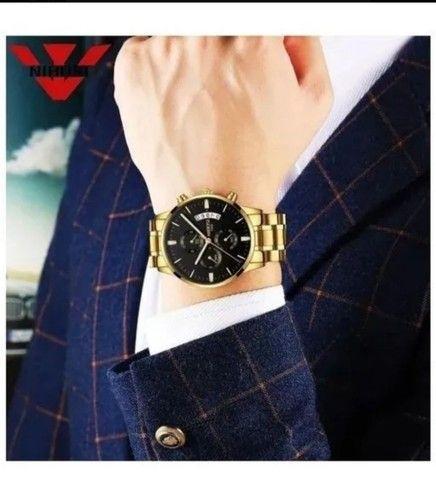 Relógio Nibose Dourado modelo luxo  - Foto 4