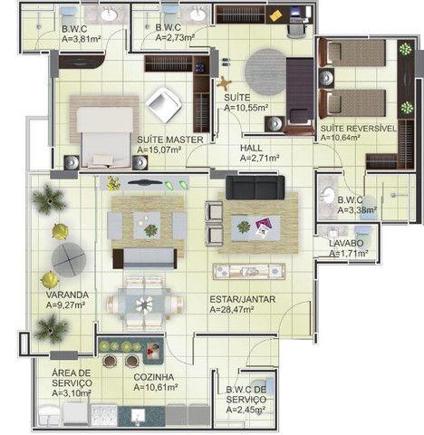 Apartamento em Sao Cristovao Teresina , 3 suítes, lavabo , pronto para morar - Foto 12