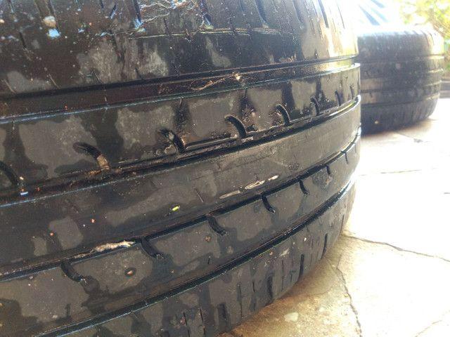 Jogo de pneus e aro de ferro - Foto 3