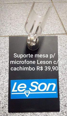 Suporte mesa p/ microfone Leson c/ cachimbo