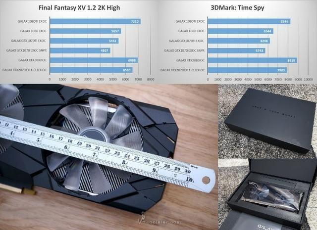 Placa De Vídeo Galax Geforce Rtx 2070 8gb Gddr6 Ex 1click Oc! Melhor preço, loja! opção12x - Foto 4