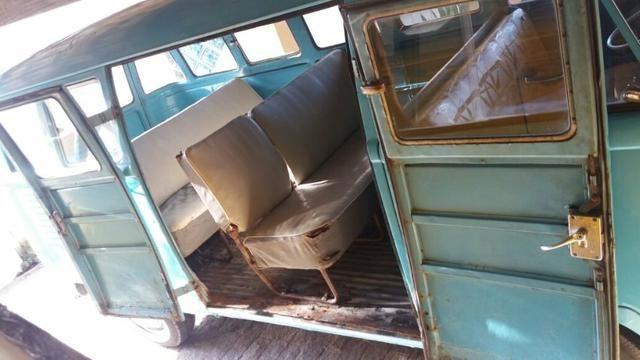 Kombi Corujinha 1964 azul, motor, suspenção, freios e elétrica nova - Foto 12