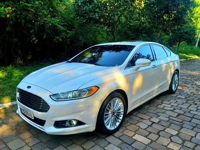 Ford Fusion Titanium awd 2015 2.0 Turbo (Pacote premium/interior caramelo) - Foto 4