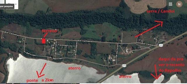 Terreno de 472,00 m² na Avenida Cachoeira - Alagado do Candói R$ 22.000,00