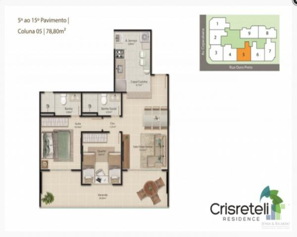 Apartamento à venda na Praia do Morro em Guarapari, 2 quartos 1 ou 2 vagas de garagem - Foto 11