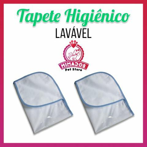 Kit 2 Tapetes Higiênicos Pet Laváveis - Tam. 70x50 cm - Foto 2