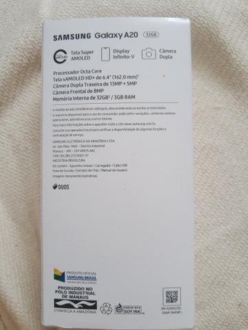 Celular Samsung A20 Azul novo ( aceito cartão) - Foto 5
