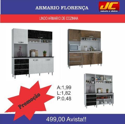 Lindo armario de cozinha Florença . Fazemos entregas