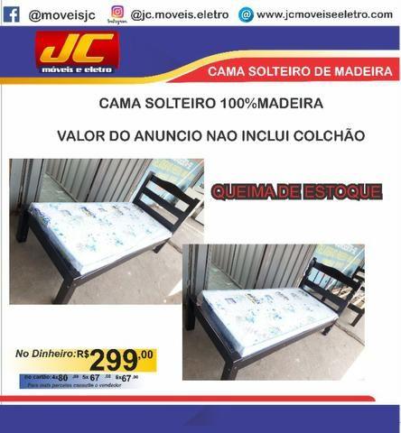 Linda cama solteiro 100% Madeira . Montagem gratis . Fazemos entrega