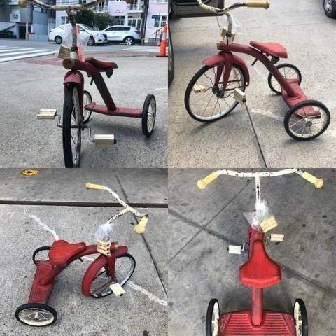 """""""Guidão"""" de triciclo infantil Bandeirantes dos anos 1950 - Foto 2"""