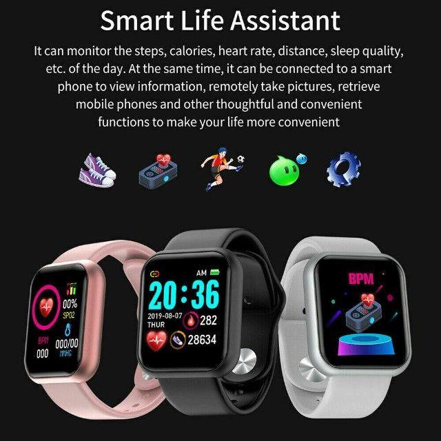Relogio Inteligente Smartwatch D20 Bluetooth Preto - Foto 3