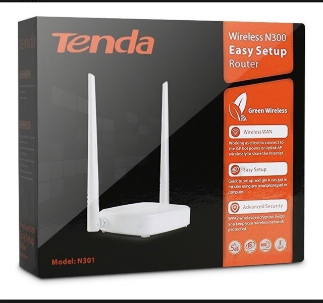 Roteador N301 Tenda 300mbps 2 Antenas Original Anatel