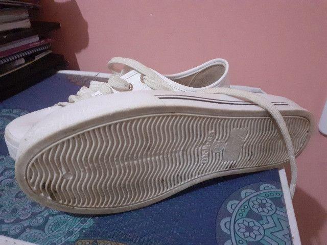 Calçado moleca cor branco - Foto 3