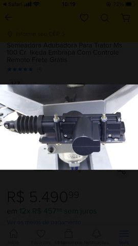 Semeadora Adubadora Para Trator Ms 100 Cr  Ikeda Embrapa Com Controle  - Foto 4