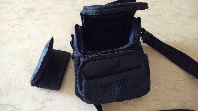 Bolsa Case para câmera fotográfica Nikon e filmadoras Com bolsas laterais e na frente  - Foto 5