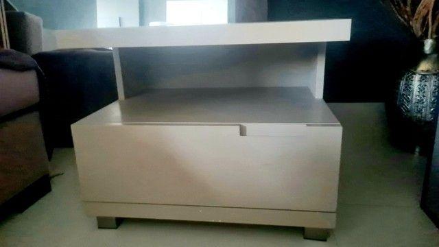 Conjunto móveis  prateleira, rack, criado e aparador cor Fendi  - Foto 5