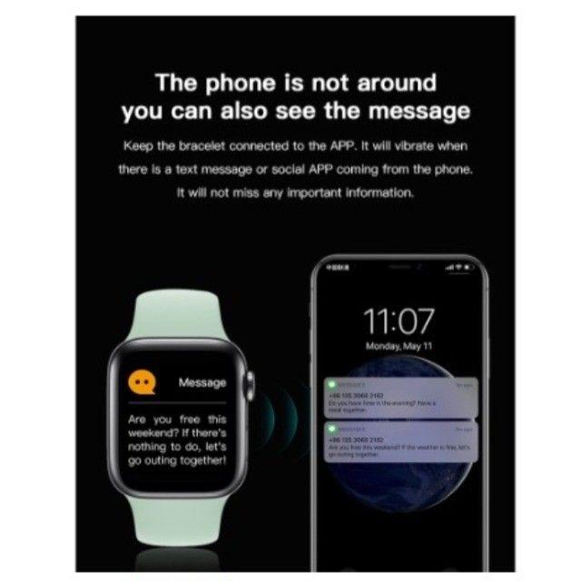 Smartwatch Chamada Bluetooth Relógio Inteligente X6 Plus X7 X8 monitor Cardíaco Fitness - Foto 5