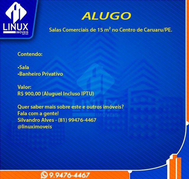 Alugo Salas Comerciais de 15 m² no Centro de Caruaru/PE. - Foto 7