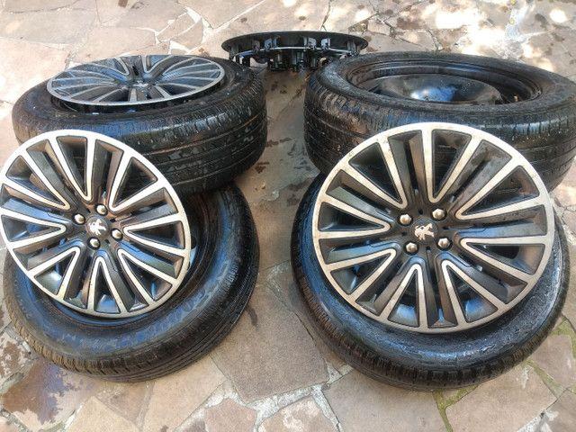 Jogo de pneus e aro de ferro - Foto 4