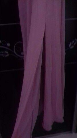 Vestido para festa ou madrinha de casamento rosê tamanho P - Foto 3