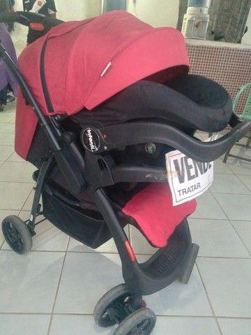 Carrinho terni com o bebê conforto  - Foto 2