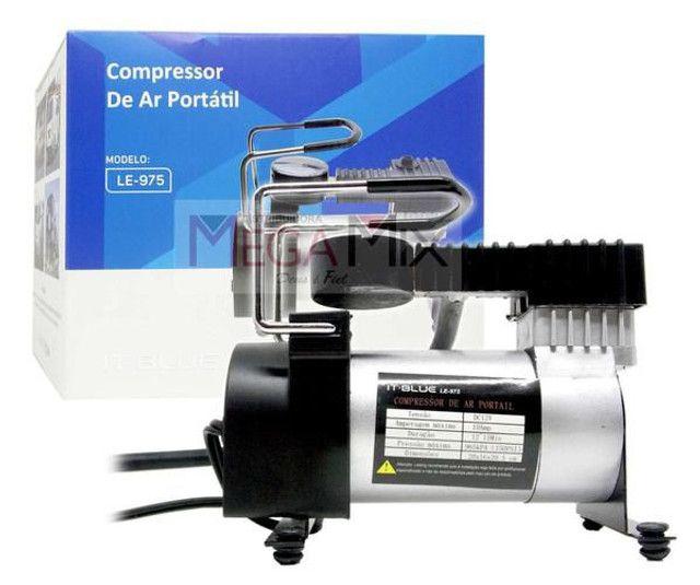 Compressor De Ar Veicular Profissional Portatil 12v Carro Le-975 - It Blue - Foto 3