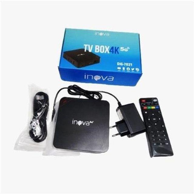 TV Box 4K 4GB   32GB Velocidade 5G Transforma TV em Smart Original Inova - Foto 3