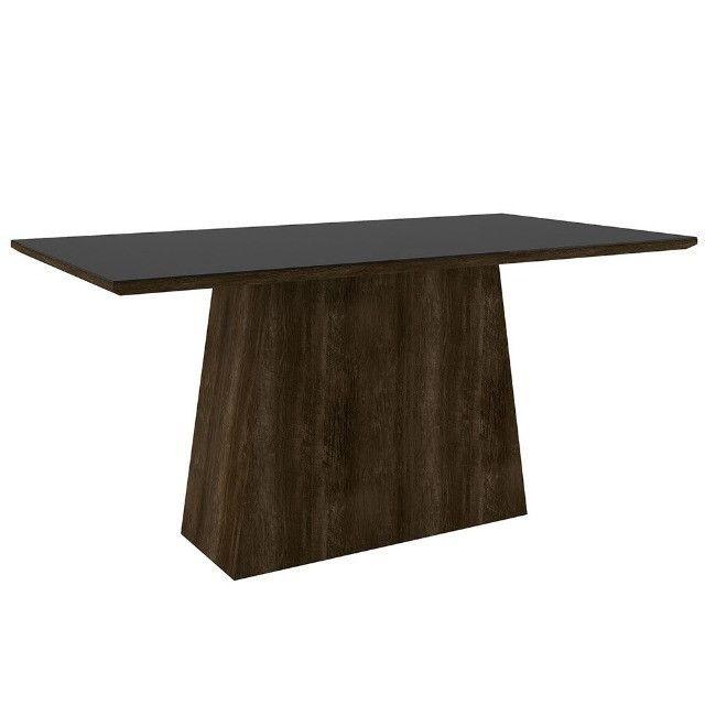 Promoção - Mesa Elegance para 6 Cadeiras - Vidro Preto - Apenas R$569,00