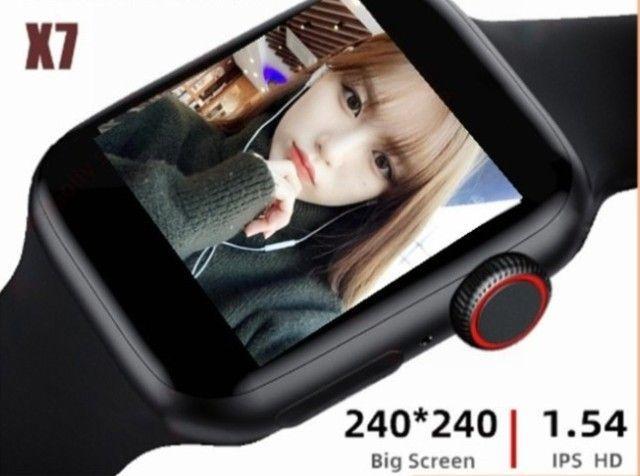 Smartwatch Chamada Bluetooth Relógio Inteligente X6 Plus X7 X8 monitor Cardíaco Fitness - Foto 6