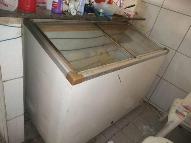 Freezer horizontal com 2 portas