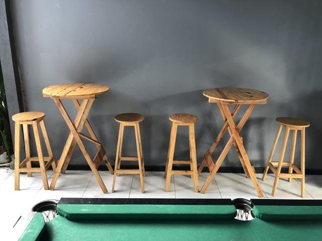 2 Bistrôs de Pálete com 2 cadeiras cada - Foto 4