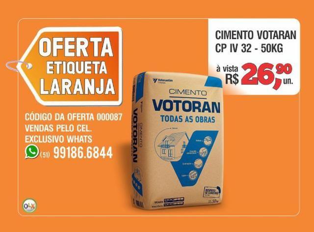 Votoran - Cimento CP IV 32 - Saco 50kg - Oferta etiqueta laranja - Foto 3