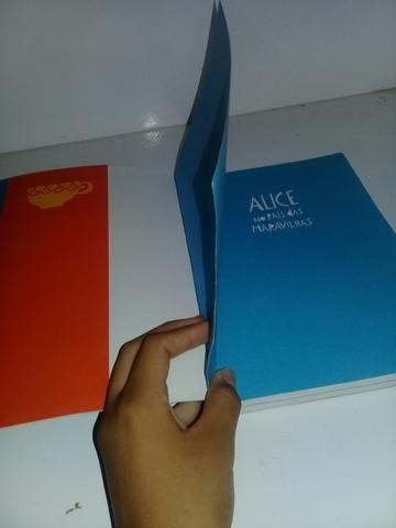 Livro 2 em 1 Alice no país das maravilhas e Alice Através do espelho - Foto 4