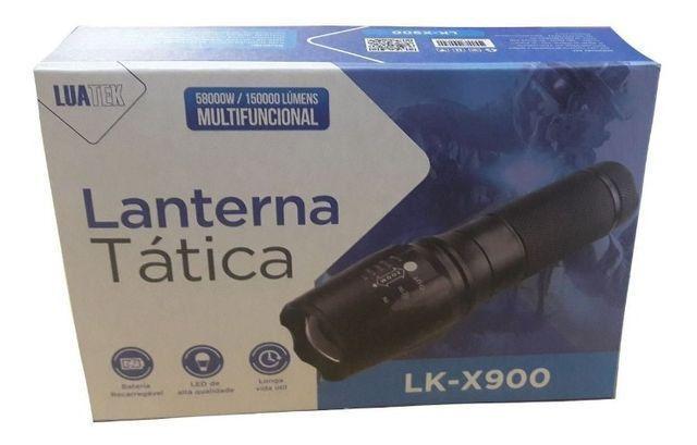 Lanterna Tática Led Recarregável Lk-x900 - Luatek