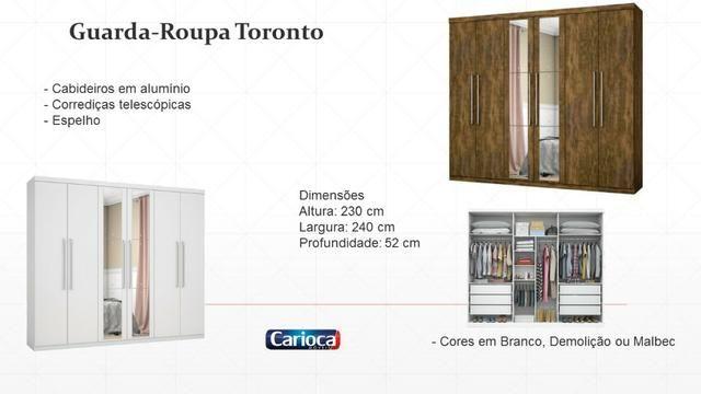 Roupeiro Toronto PCB2jan20 Carioca Móveis - Foto 2