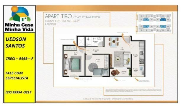 UED-23 - Apartamento térreo com quintal de 26 metros quadrados - Foto 5