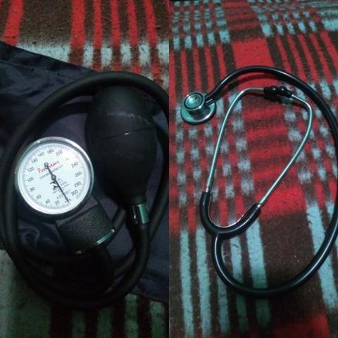 Estetoscópio e Medidor de Pressão Arterial