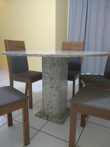 Mesa redonda com 5 cadeiras - Foto 2