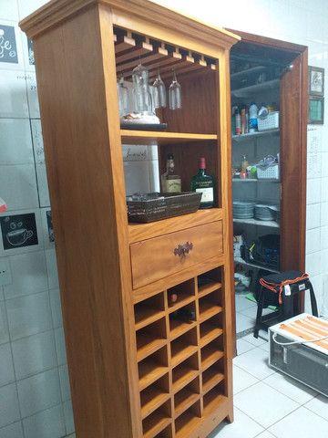 Bar Adega de Madeira Maciça