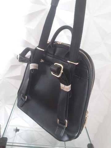 Bolsa mochila em couro - Foto 2