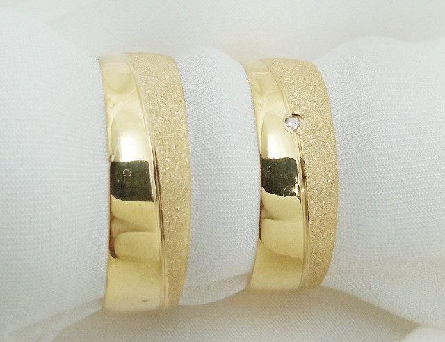 Par de aliança em ouro 18k direto com o fabricante - Foto 4