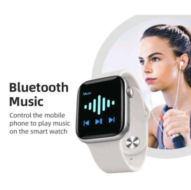 Smartwatch Chamada Bluetooth Relógio Inteligente X6 Plus X7 X8 monitor Cardíaco Fitness - Foto 4