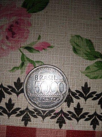 Moeda 5000 cruzeiros 1792-1992 - Foto 3