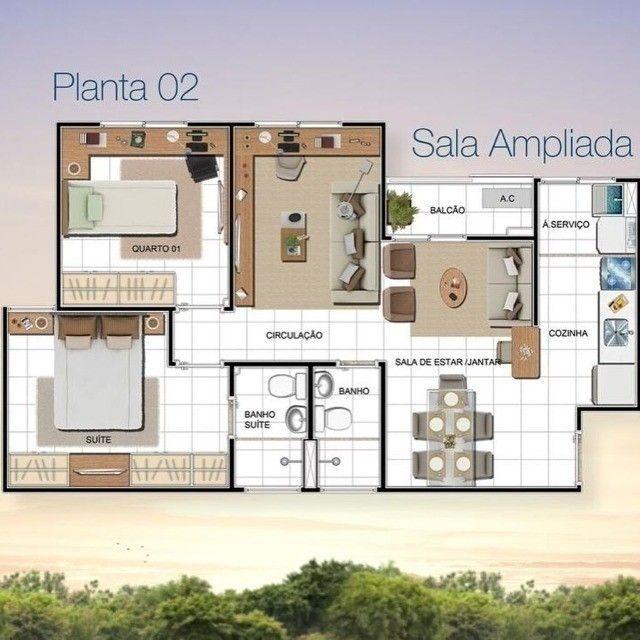 Condomínio Predilleto, Ponta negra, 56m², 2 e 3 quartos sendo 1 suíte - Foto 9