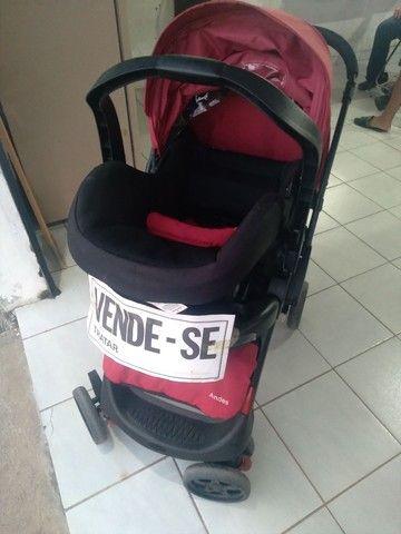 Carrinho terni com o bebê conforto  - Foto 6