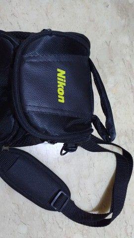 Bolsa Case para câmera fotográfica Nikon e filmadoras Com bolsas laterais e na frente  - Foto 2