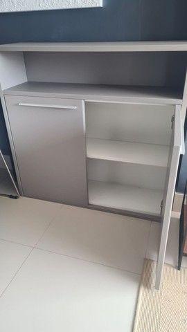 Conjunto móveis  prateleira, rack, criado e aparador cor Fendi  - Foto 2